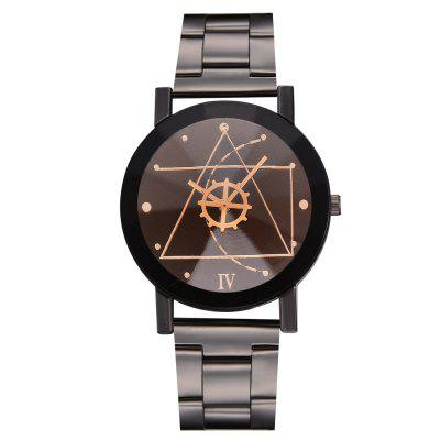 Xr2762 Gear Geometric Steel Band Quartz Watch