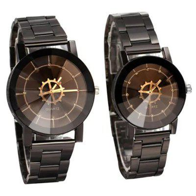Fashion Leisure Compass Turntable Steel Band Quartz Lovers Watch