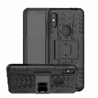 Shockproof with Stand Back Cover Armour Hard PC for Moto one power/ P30 Note Case