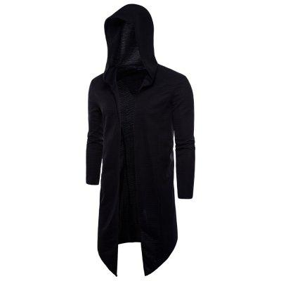 Men Knit Hooded Cloak Coat