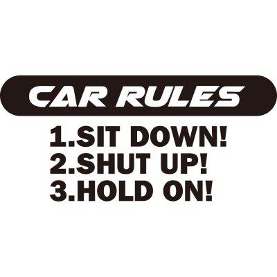 car Rules Car Decoration Sticker Removable