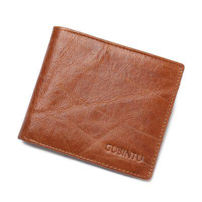Crazy Horse Leather Men Wallets Top Leather Thin Genuine Leather Wallet for Men