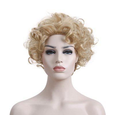 Stylish Blonde Wig with Curly Hair