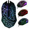 LED Optical 3 Botones USB USB Cableado Gaming Game Mouse Pro Gamer Computadora Ratones - NEGRO