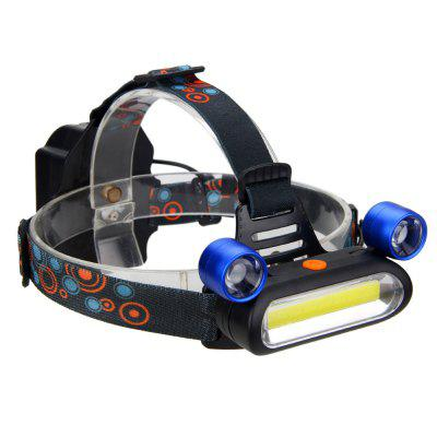 COB LED Headlamp Torch Rechargeable Headlight Lamp Camping