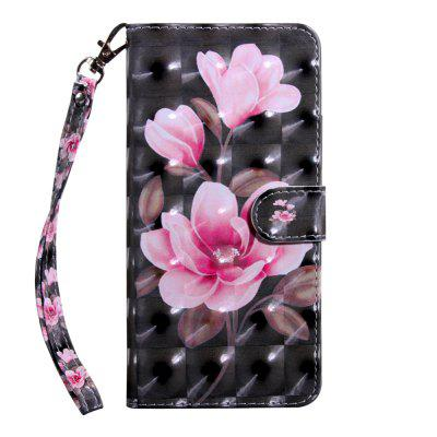 3D Color Painting Flip Wallet Phone Cover for iPhone 5 / 5S / SE Case
