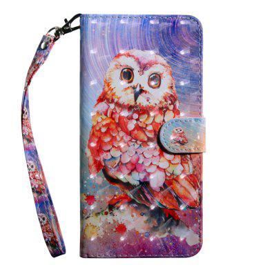 3D Color Painting Flip Wallet Phone Cover for iPhone 7 / 8 Case