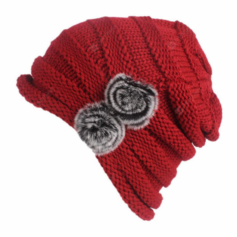 New Woman Fashion Knit Solid Casual Sweater Hat