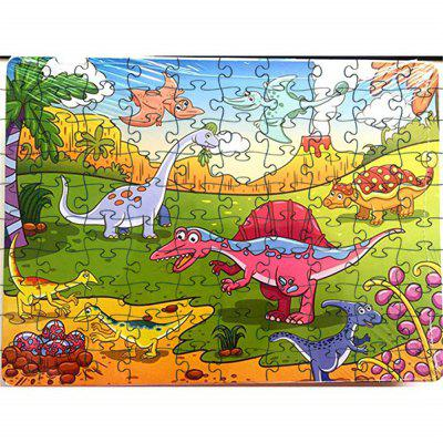 Old Animals 3D Jigsaw Paper Puzzle Block Assembly Birthday Toy