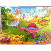 Old Animals 3D Jigsaw Paper Puzzle Block Assembly Birthday Toy - MULTI