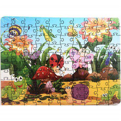 3D Jigsaw Paper Animals Puzzle Block Assembly Birthday Toy