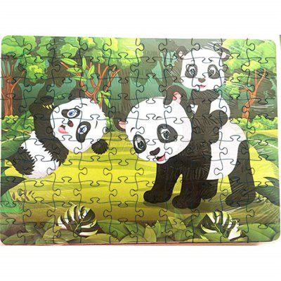 Panda 3D Jigsaw Paper Puzzle Block Assembly Cumpleaños Toy
