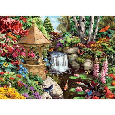 Forest View 3D Jigsaw Paper Puzzle Block Assembly Cumpleaños Toy