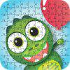 Green Frog 3D Jigsaw Paper Puzzle Block Assembly Birthday Toy - MULTI