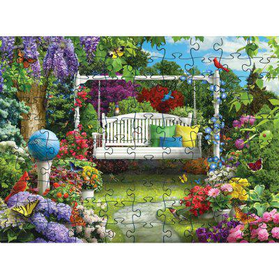 Plante verte 3D Jigsaw Paper Puzzle Block Assembly Toy