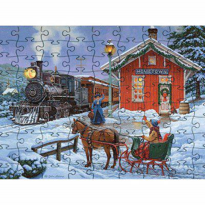 3D Jigsaw Paper WInter Snow Puzzle Block Assembly Birthday Toy