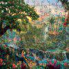 3D Jigsaw Paper Puzzle Natural Forest Block Assembly Birthday Toy - MULTI