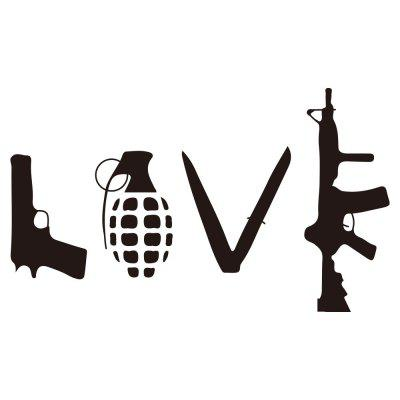 Handgun Antitank Grenade Car Decoration Sticker Removable