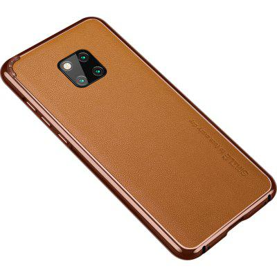 Metal Bumper Frame Case For Huawei Mate 20 Pro Leather Soft Cowskin Back Film