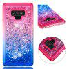 For Samsung Galaxy Note 9 Side Drill + Gradient Color Quick Sand Cover - MULTI-D