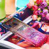 For Huawei P20 Lite Side Drill + Gradual Color Quick Sand Protection Sheath - MULTI-B
