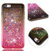 For iPhone 6S Plus Side Drill + Gradient Color Quick Sand Cover - MULTI-B