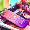 For iPhone 8 Plus Side Drill + Gradient Color Quick Sand Cover - MULTICOLOR-C