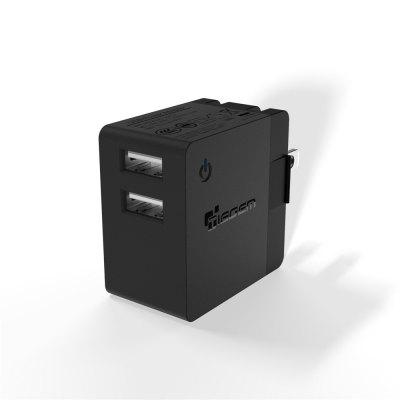 TIEGEM US Plug Universal Dual USB Wall Charger Adapter 2.4A Mobile Phone Charger