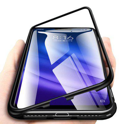 Magnetically Absorbing Metal Tempered Glass Flip Case for Xiaomi Mi 8 Lite