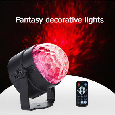 Intelligent Remote Control LED Water Wave Light Mini Decorative Stage Light Mag