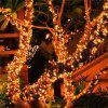 LED Solar String Light 12M IP65 Waterproof Garden Light 100LED - WARM WHITE