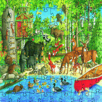 Woods Animal 3D Jigsaw Paper Puzzle Block Assembly Birthday Toy
