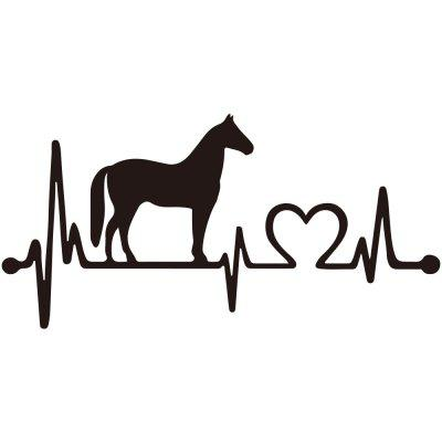 Creative pony love electrocardiogram Car Decoration Sticker Removable Decoration