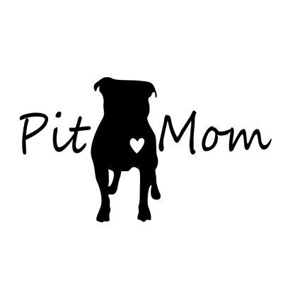 Pit Mom Cartoon Puppy Car Creative Sticker Removable Decoration