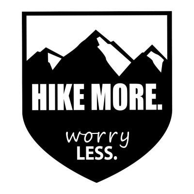 Hike More Worry Less Creative Sticker Removable Decoration