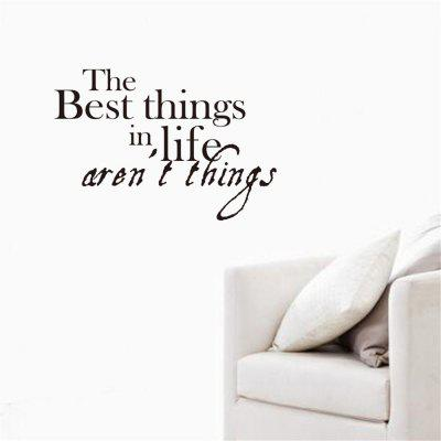 the Best Things in Life Art Vinyl Mural Home Room Decor Wall Stickers