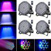 UKing 4 PCS of RGB LED Par Lights with 4 Remote Controllers for Stage Effect - BLACK