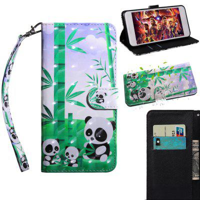 Luxury 3D Flip Wallet Case for Huawei Y6 2017 / Honor 6 Play Leather Phone Case