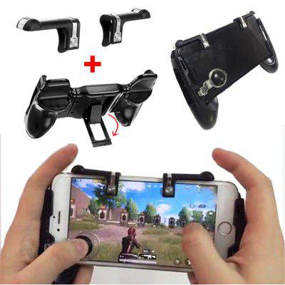 4 in 1 Mobile phone Game Trigger Controller Fire Button Gamepad Aim Key Joystick