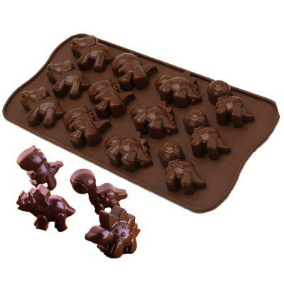 12 Cavity Dinosaur Silicone Cake Chocolate Candy Mould Cookies Baking DIY Mold