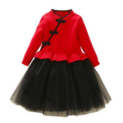 Children'S Sweater Skirt Princess Dress Girls Dress