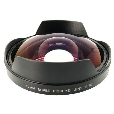 KAPKUR 0.3X Fisheye SLR Camera Add-on Lens Rear Mount Dia. 72mm