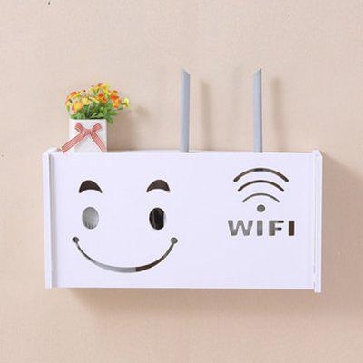 Smiley Pattern Router Wall Mount Storage Box Wall Hangin