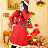 Adult Female Christmas Decoration Performance Clothing - RED