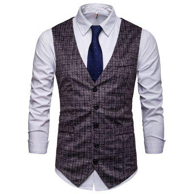 Men's Fashion Casual Single-Breasted Suit Vest