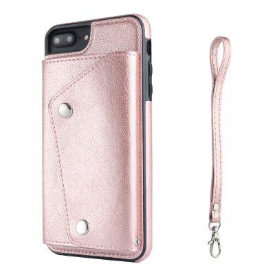 New Top Layer Cowhide Flip Phone Leather Case Insert Card for IPhone 8plus