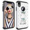 Pour iPhone Xr Painting + Drill Two-in-One Housse de protection - MULTI-F