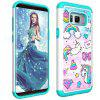 For Samsung Galaxy S8 Plus Painting + Drill Two-In-One Protection Set - MULTI-D