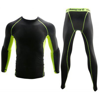 Men'S Long Sleeve Tight Set Fitness Wear Quick Dryer