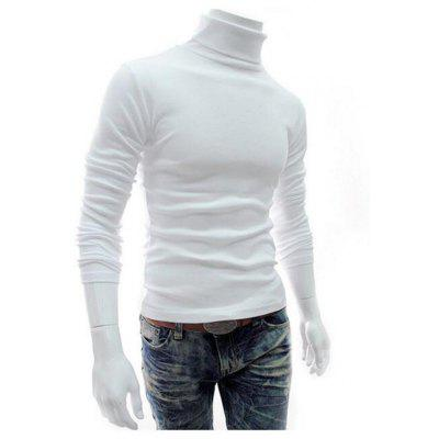 2018 MenS Turtleneck SweaterSlim Fit Knitted Pullovers